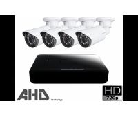 Комплект видеонаблюдения на 4 всепогодные камеры AHD 720p 1Mpx