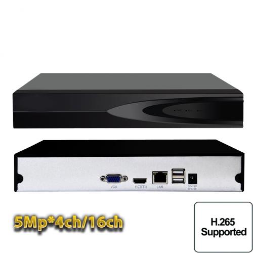 Сетевой IP NVR видеорегистратор на 4/16 каналов 5Mpx