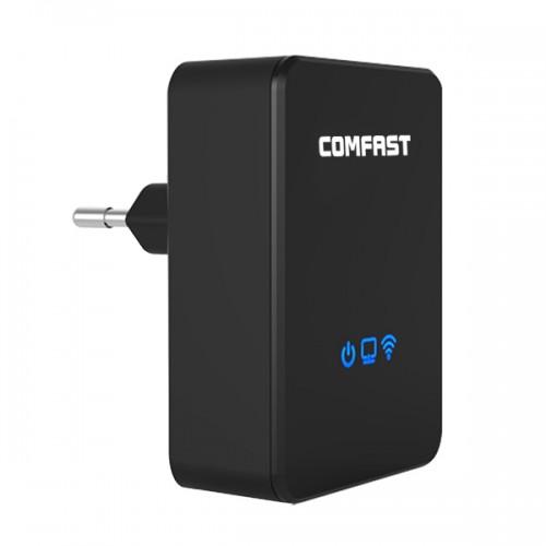 Усилитель wifi сигнала Comfast RP15RU 2.4ГГц 150 Мбит - 3 в 1 репитер, точка доступа, роутер
