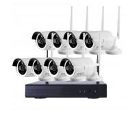Беспроводной комплект видеонаблюдения WiFi на 8 камер 3Mp с функцией детекции человека
