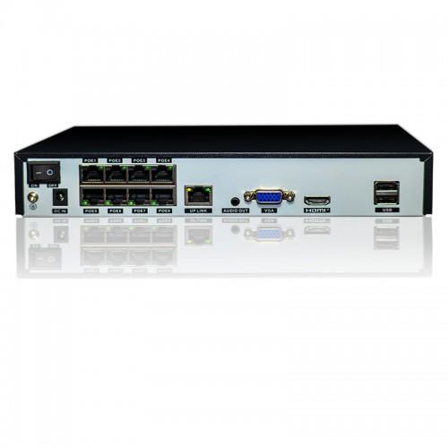 Сетевой IP видеорегистратор POE на 16 ip каналов 5Mp PoE 8 канлов