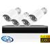 Готовый IP комплект видеонаблюдения  на 4 камеры 2Mp FullHD 1080p POE