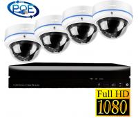 IP комплект видеонаблюдения  на 4 камеры 2Mp POE 48V
