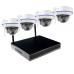 Беспроводной комплект видеонаблюдения WiFi на 4 купольные камеры FullHD с функцией аудиозаписи
